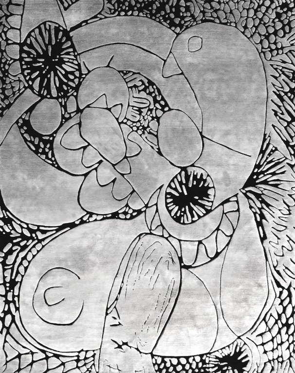 Automatic Drawing Jack Pierson rug