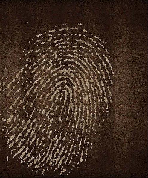 Artep tappeto design fingerprint brown