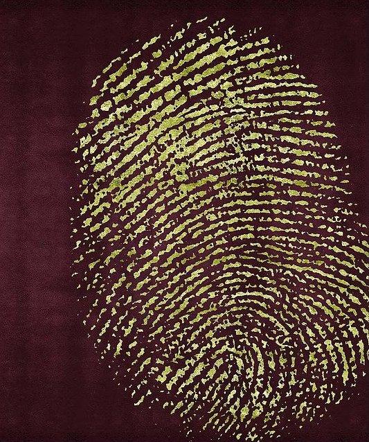 Artep tappeto design fingerprint lightbrown