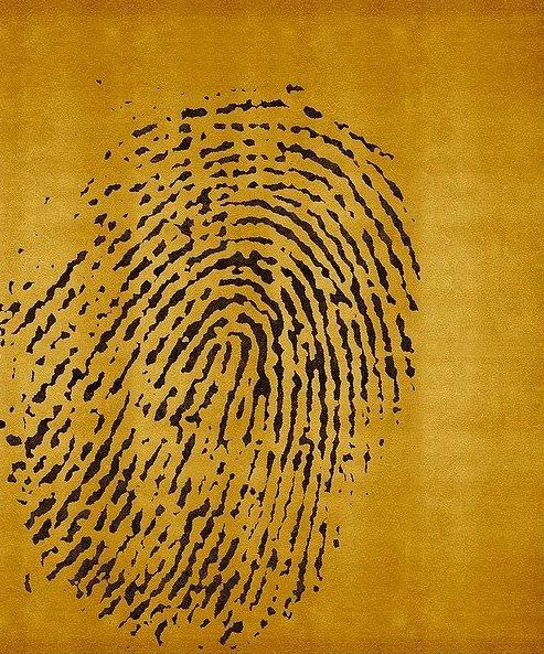 Artep tappeto design fingerprint yellow