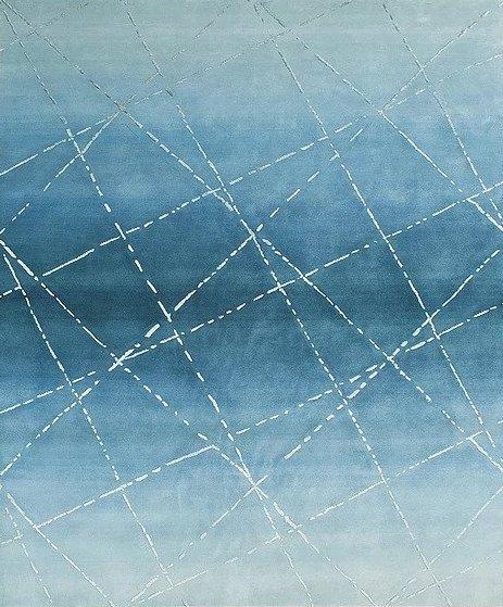 Artep graphic carpet design petrol blue carpet
